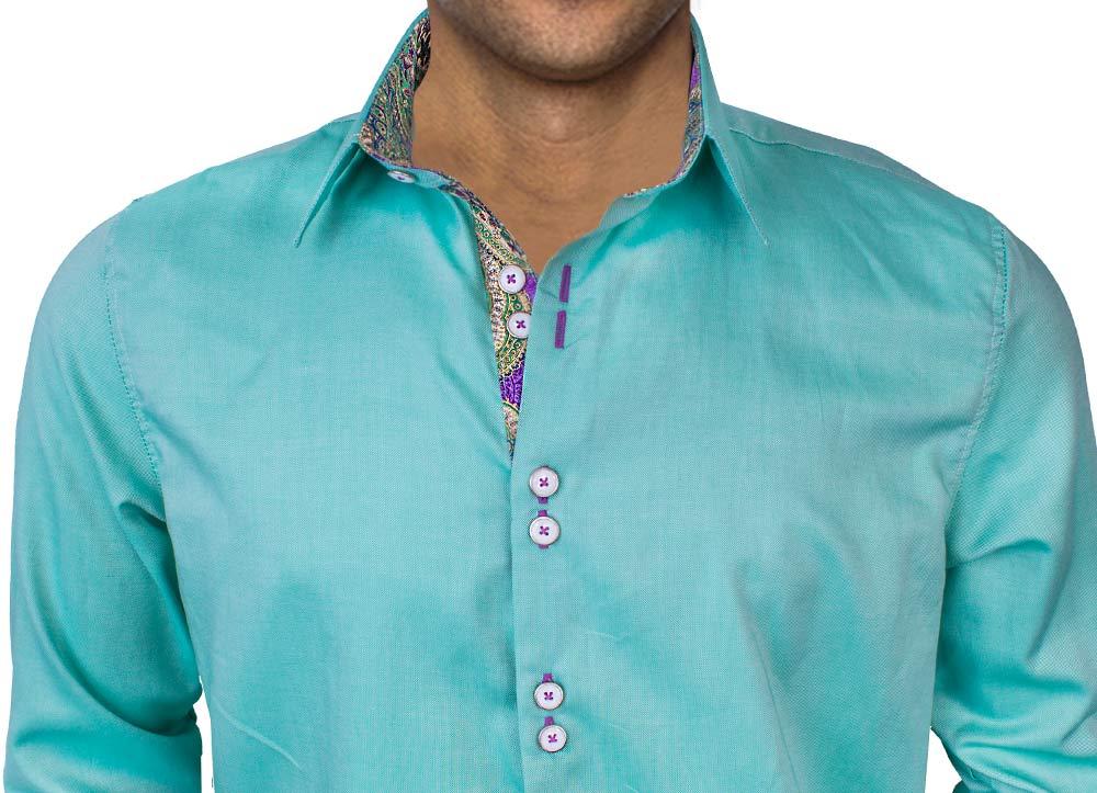 green-with-purple-dress-shirts
