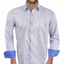 Blue-Plaid-Contrast-Dress-Shirts