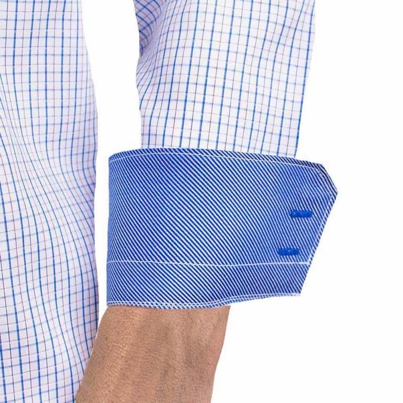 Blue-Plaid-Designer-Dress-Shirts
