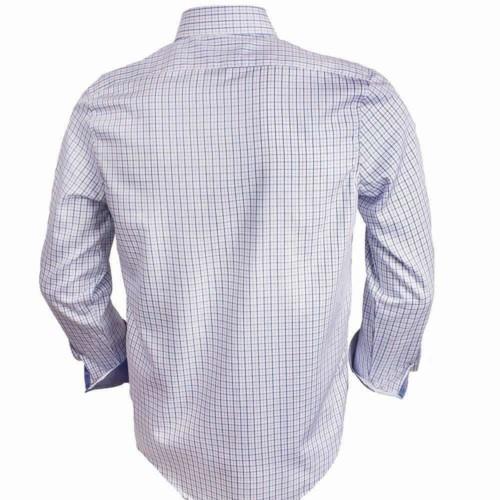 Blue-Plaid-Dress-Shirts