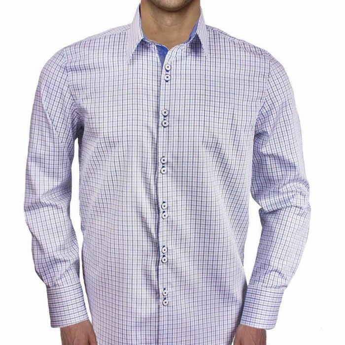 Blue-Plaid-Mens-Dress-Shirts