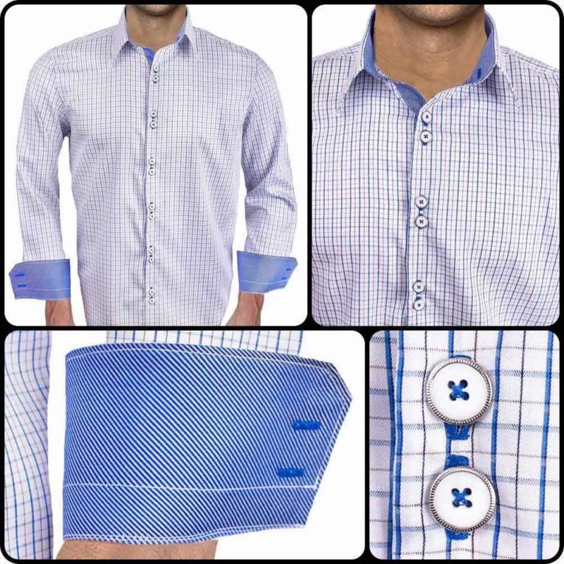 Blue-plaid-mens-designer-shirts