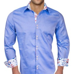 Blue-Dress-Shirt-with-Anchors