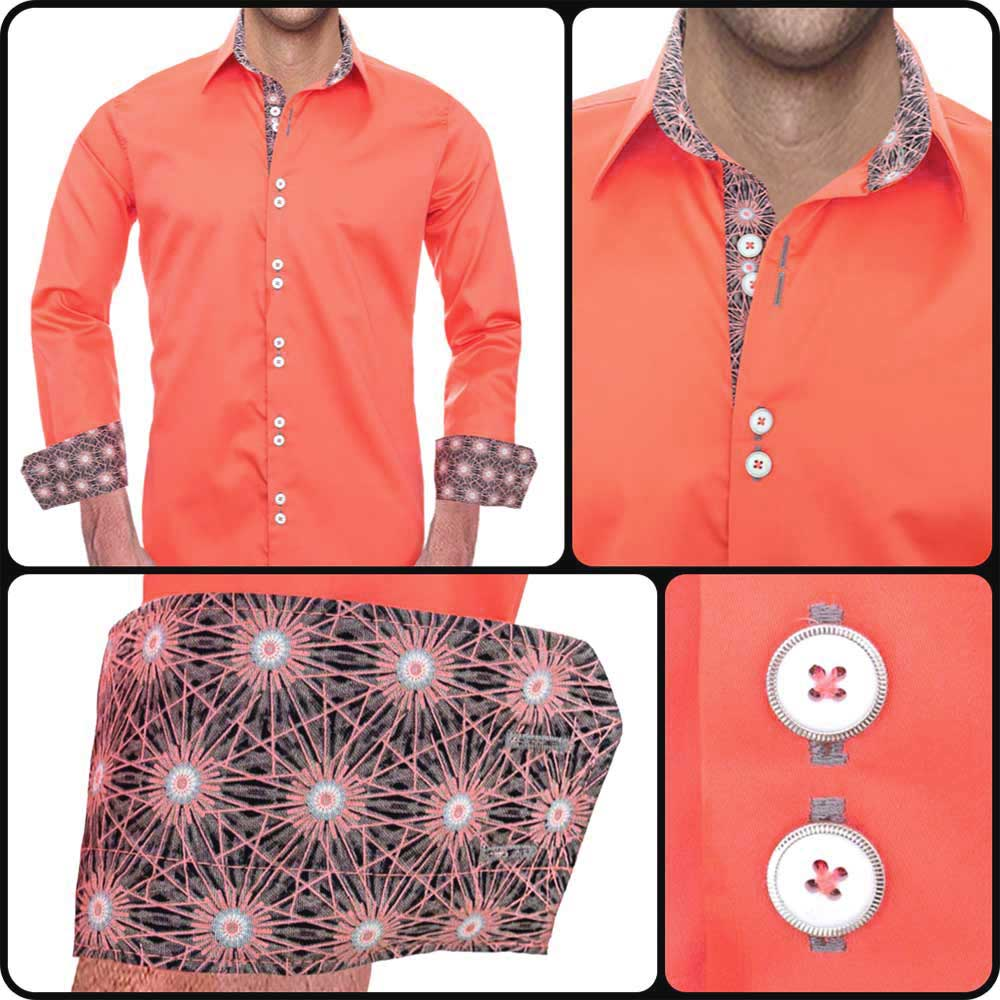 Coral and Casual Dress Shirts