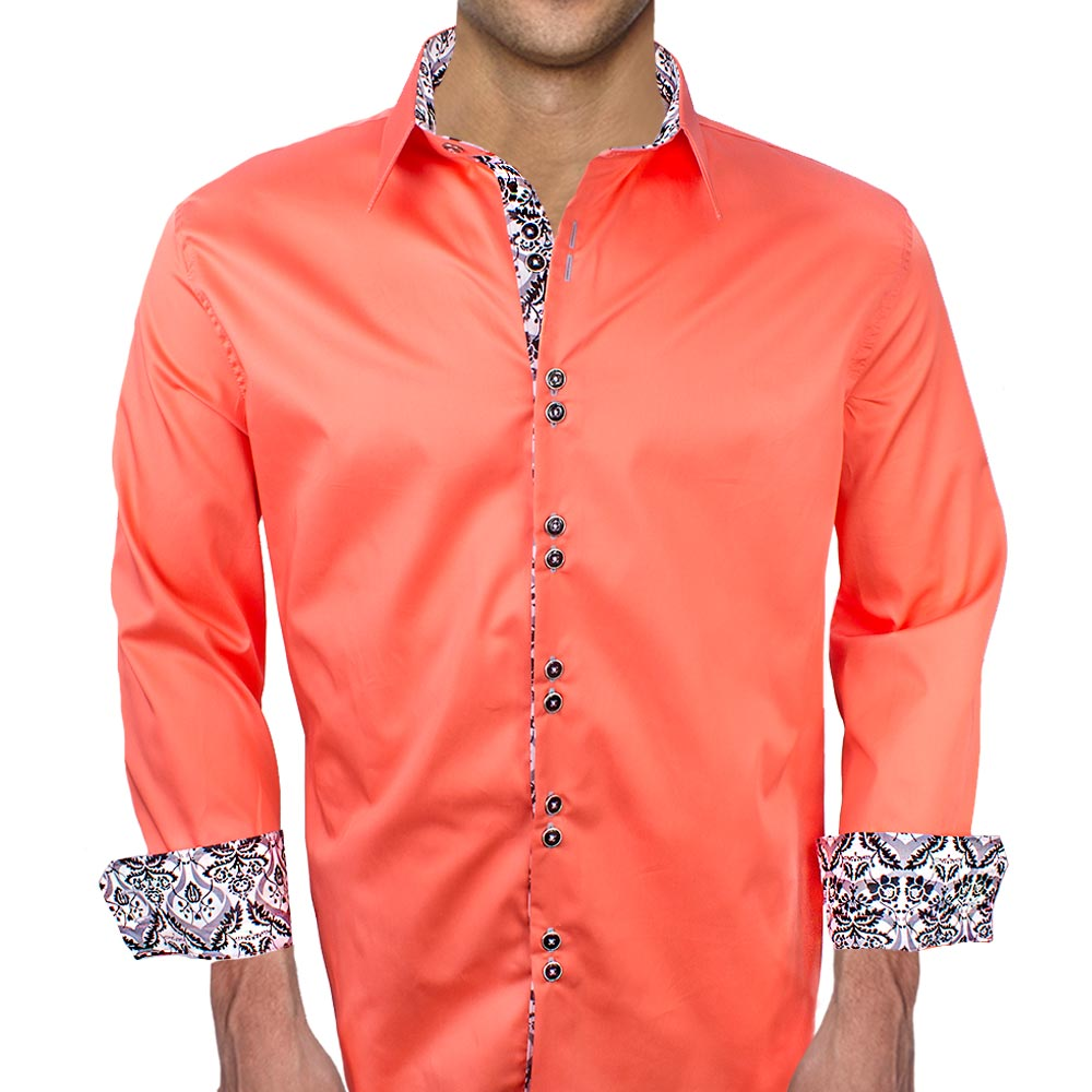 Coral Mens Dress Shirts