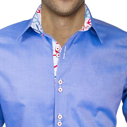 Mens-Dress-Shirt-with-Anchors