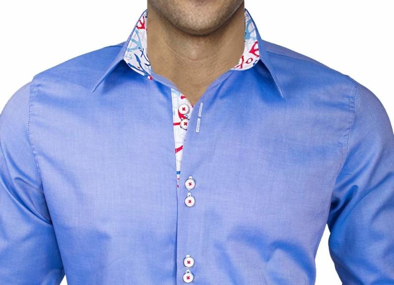 Mens-Dress-Shirt-with-Anchors