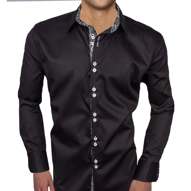 Black-with-Grey-Paisley-Dress-Shirts