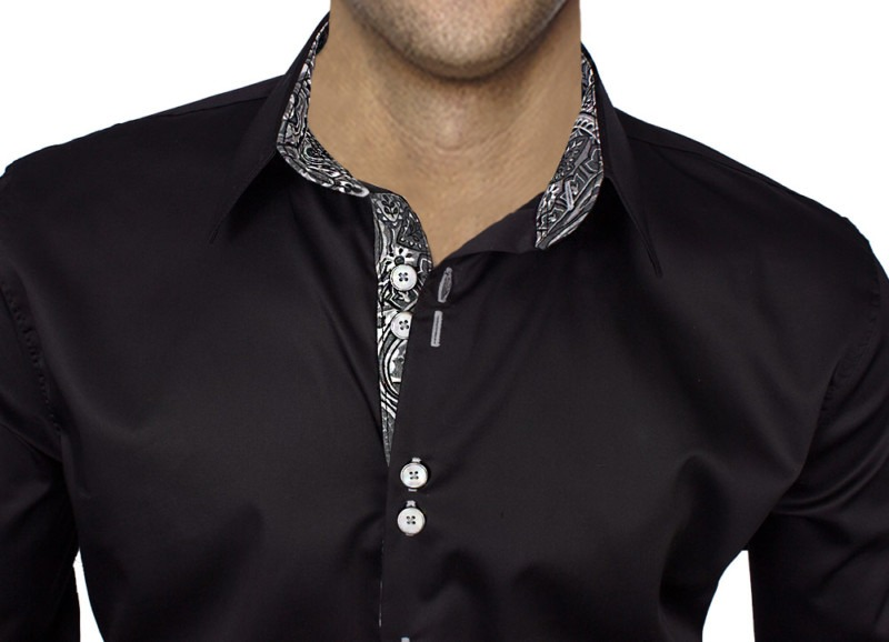 Black-with-Paisley-Dress-Shirts