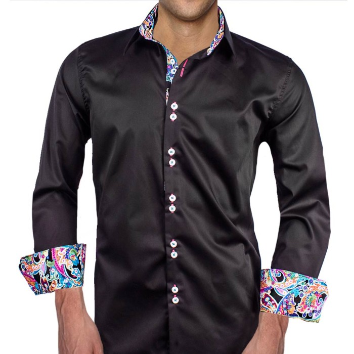 Black-with-Pink-Paisley-Dress-Shirts