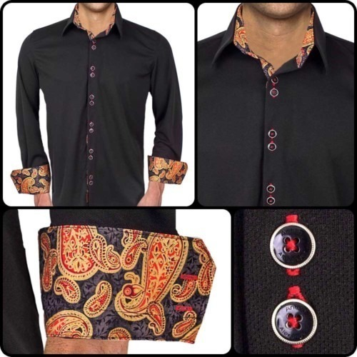 Black-with-Red-Paisley-Dress-Shirts