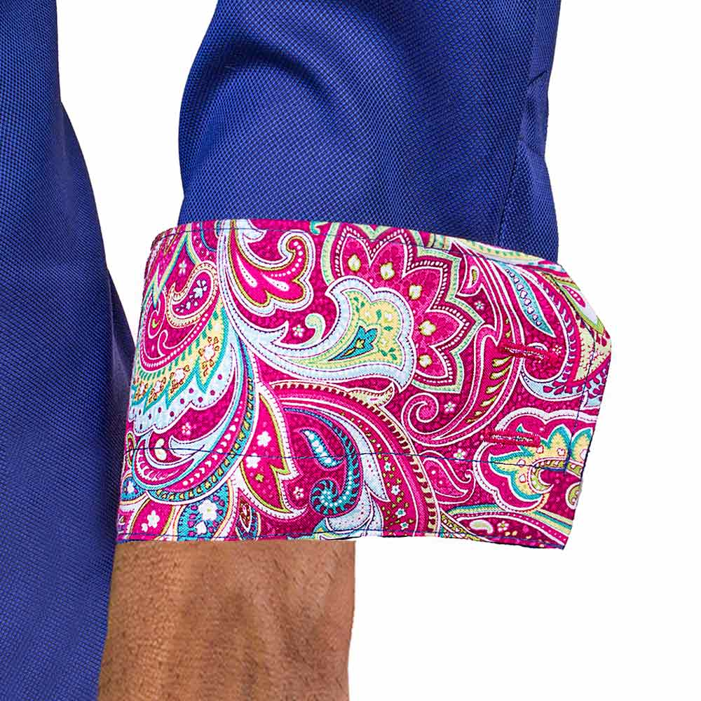 Blue-Dress-Shirt-with-Pink-Paisley-Cuff