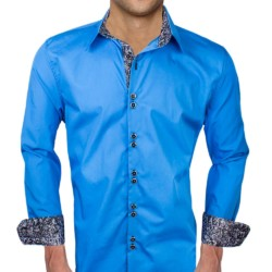 Blue-Dress-Shirts-with-Black-Cuffs