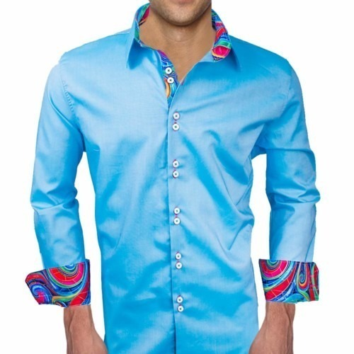Blue-Dress-Shirts-with-Contrast-Cuffs