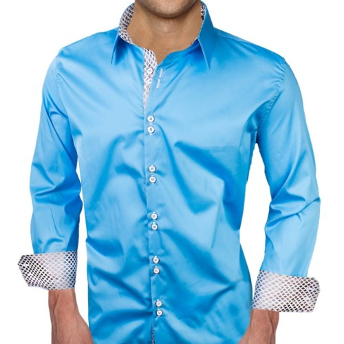 Blue-Dress-Shirts-with-White-Contrast
