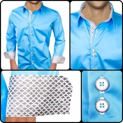 Blue-Dress-Shirts-with-white-accent