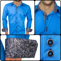 Bright-Blue-dress-shirts-with-black-accent
