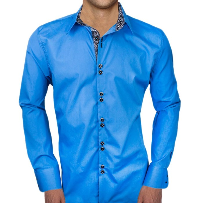Bright-Blue-with-Black-Cuffs-Dress-Shirts
