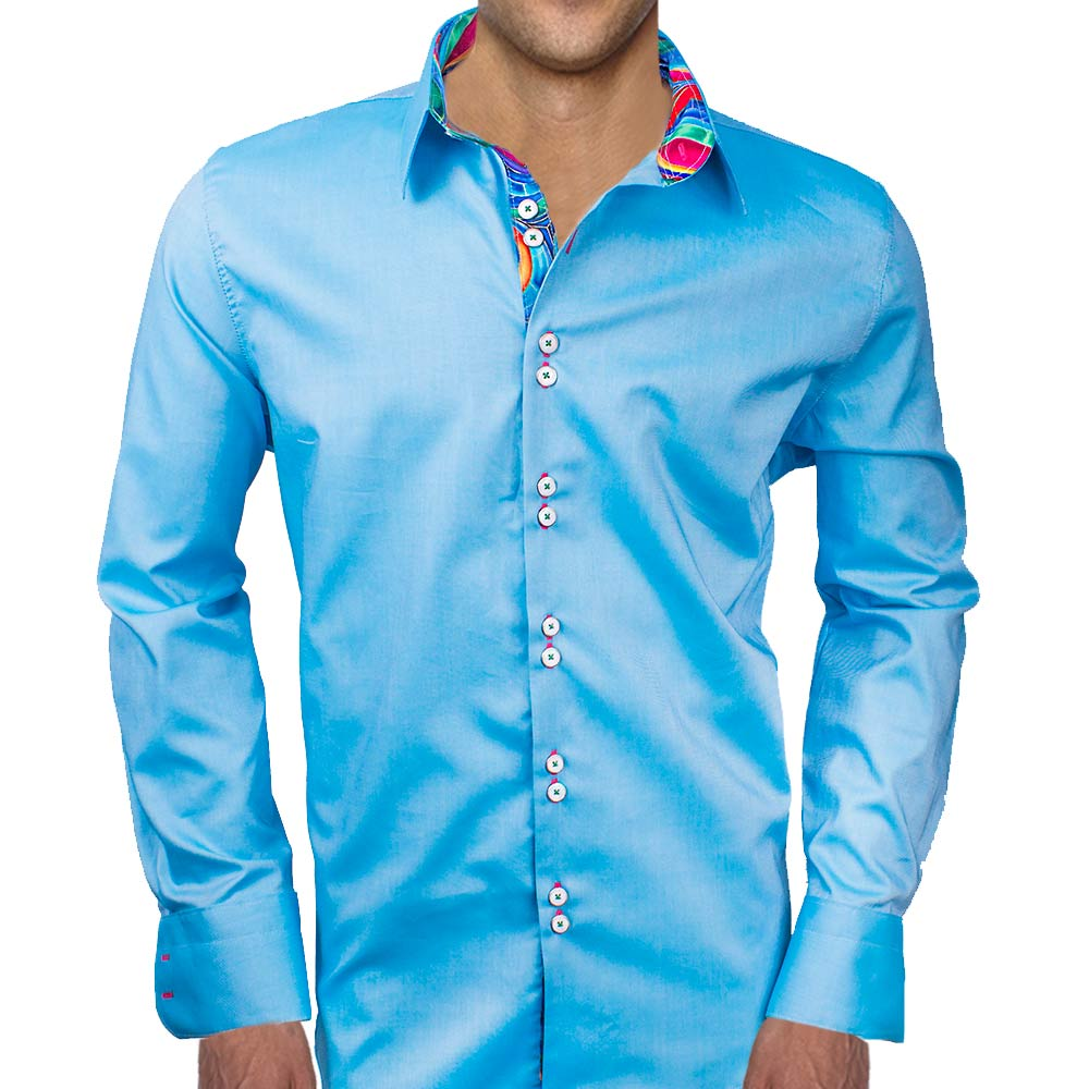 Modern Blue Dress Shirts