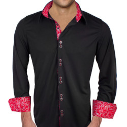 Mens-Black-with-Red-Dress-Shirts