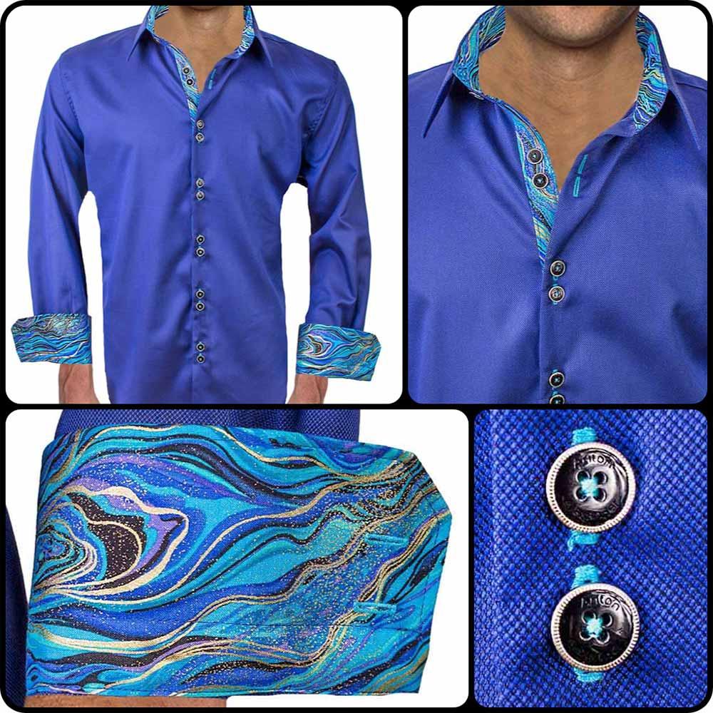 Modern Blue Dress Shirts