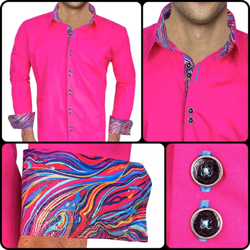 Pink-with-Accent-Dress-Shirts