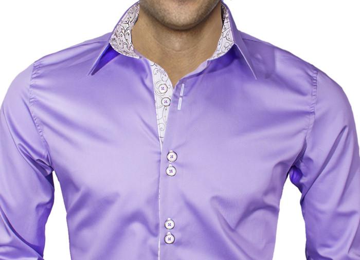 Purple-Dress-Shirt-for-a-wedding