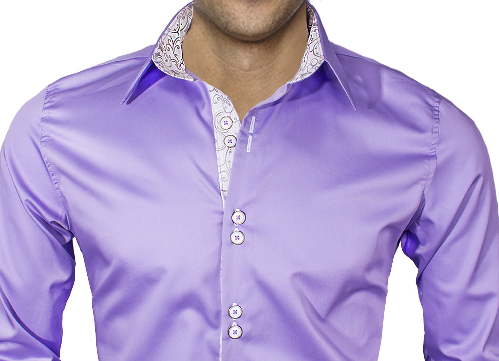Purple T-Shirt - Real Men Wear Purple. Short Sleeve Purple Dress Shirt, Button Down. Purple Shirt Unapologetically Purple. Basic Blank Purple T-Shirt, Short-Sleeves, Cotton. Oxford Solid % Cotton Purple Dress Shirt - Only a few sizes left! Dark Purple Paisley Bow Tie. Slim Fit Purple Hoodie with Black Lining.
