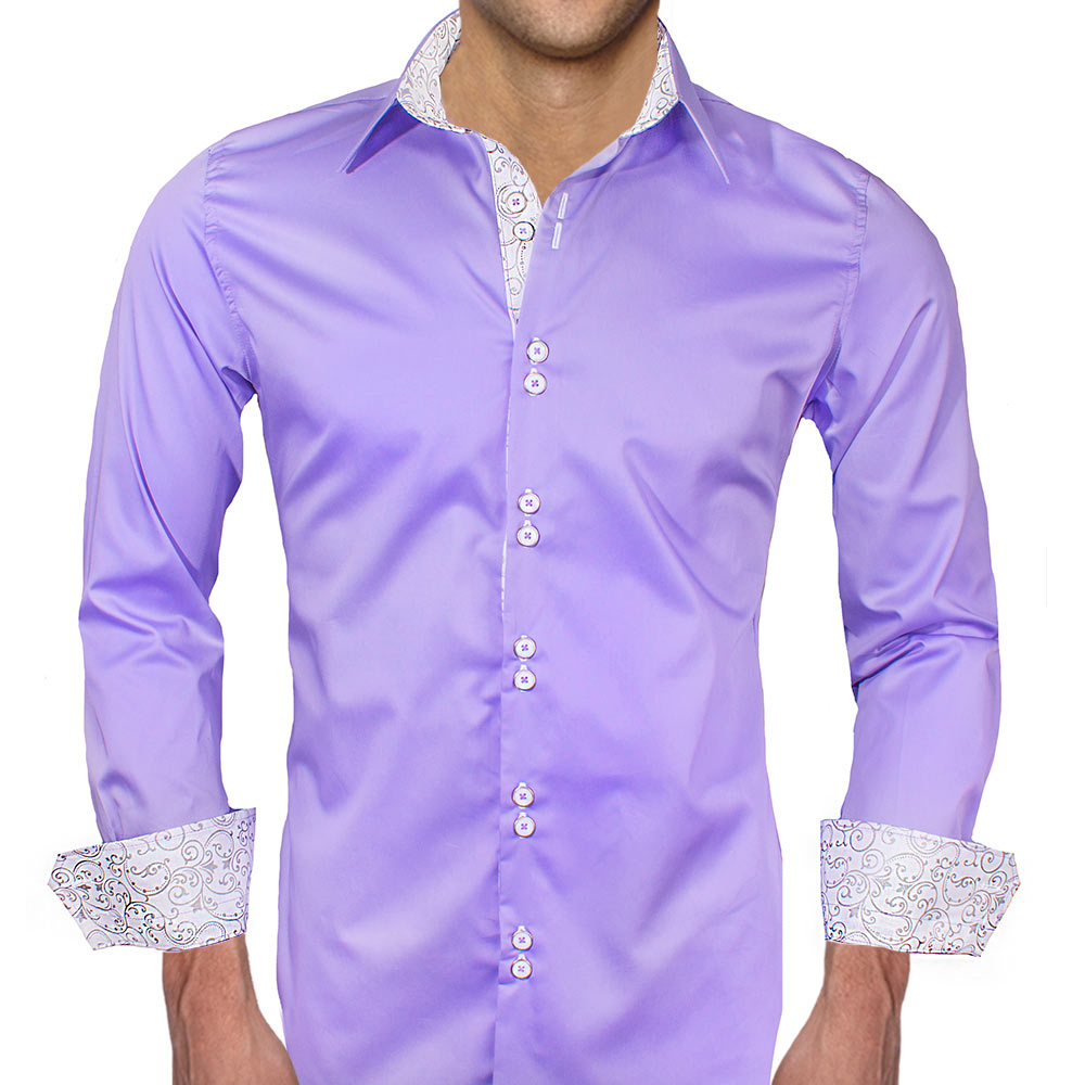 Light purple dress shirts Light purple dress shirt men