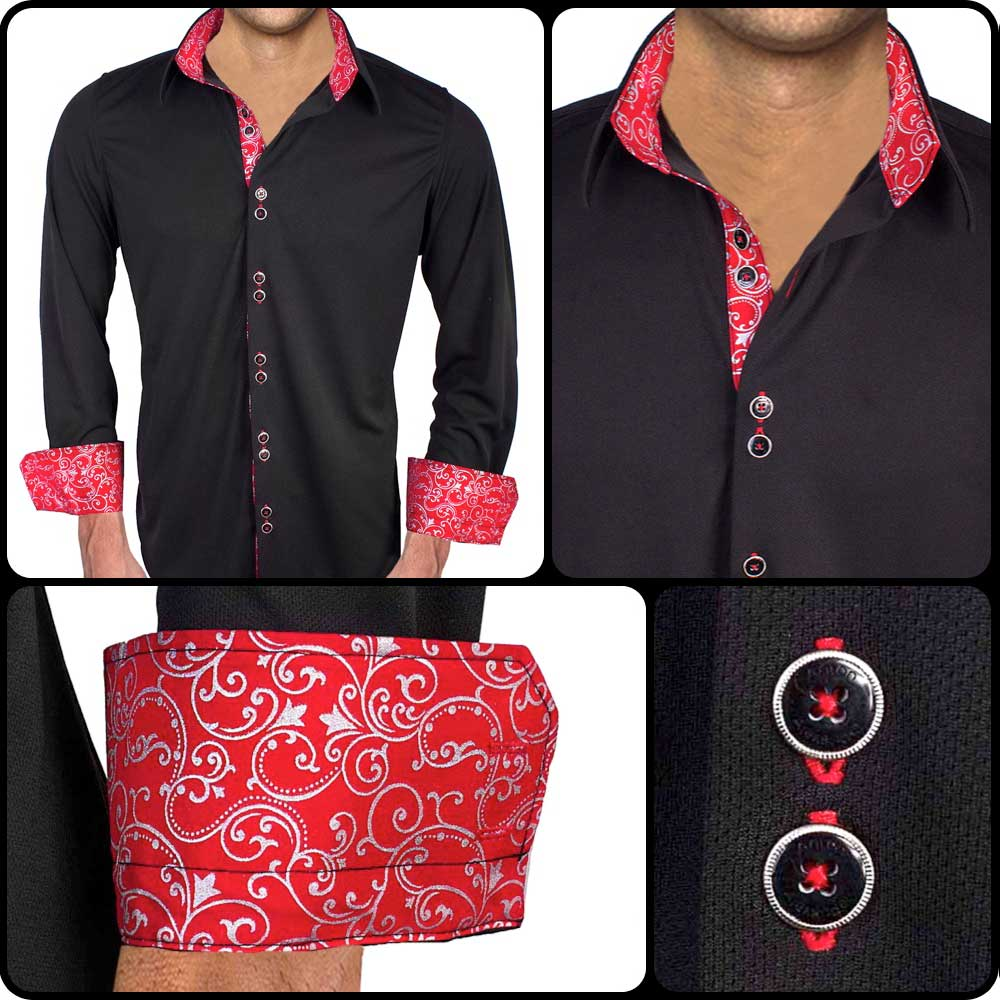 Red-Metallic-Dress-Shirts