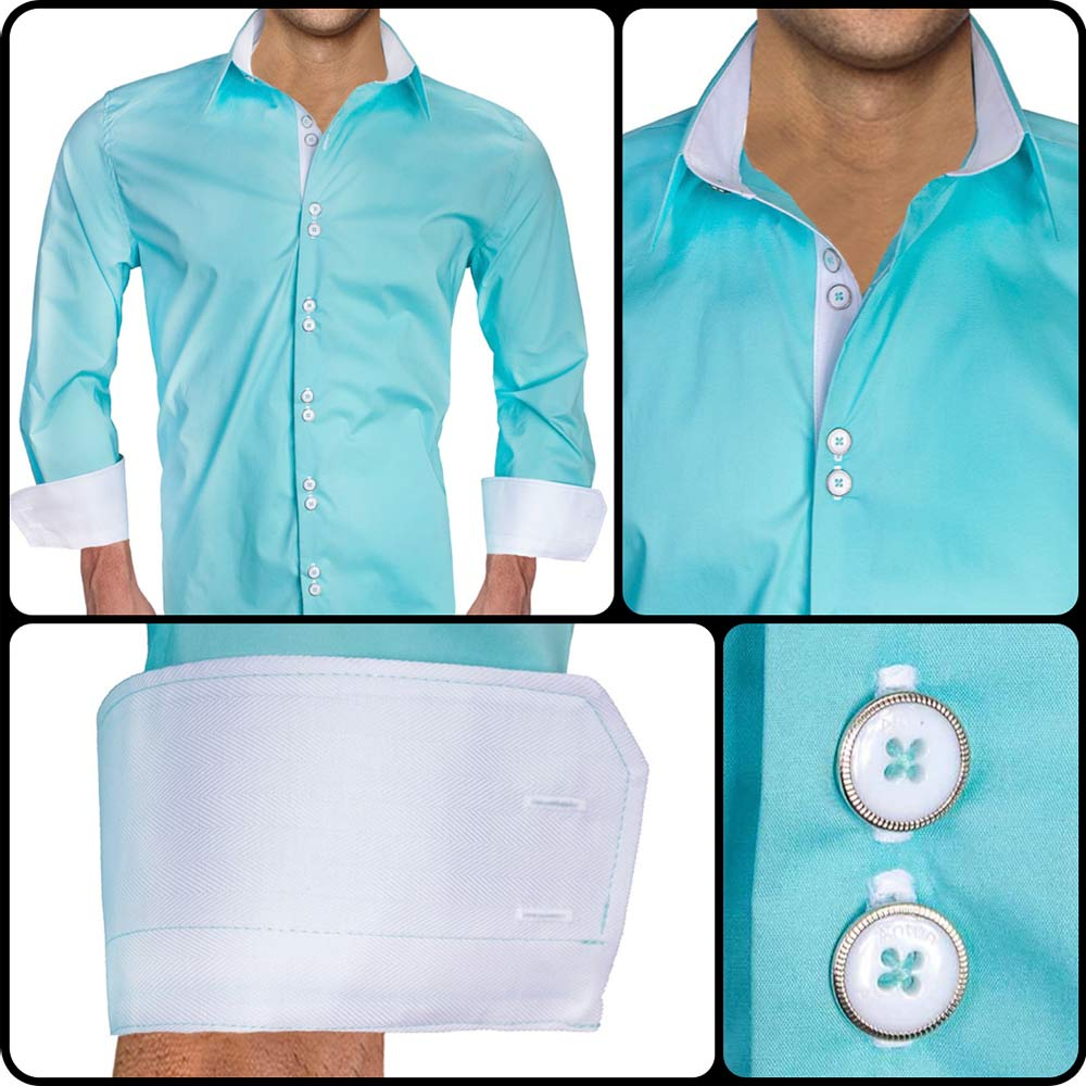 Teal-with-White-dress-Shirts