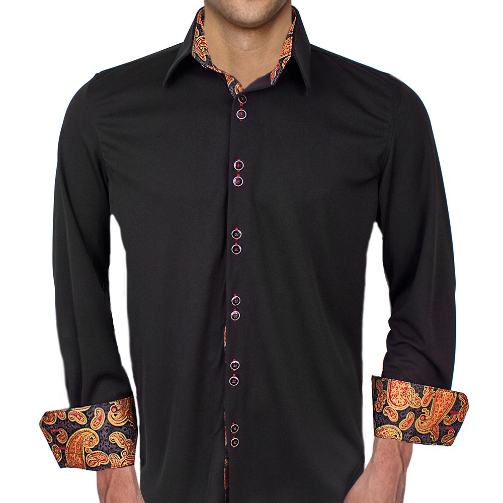 black-with-gold-dress-shirts