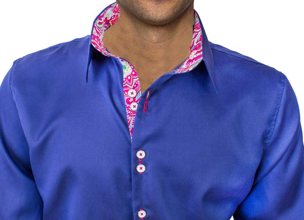 Blue with Pink Dress Shirts