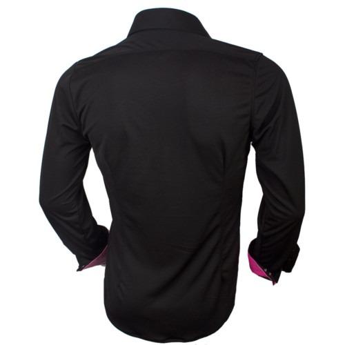 black-and-pink-dress-shirt