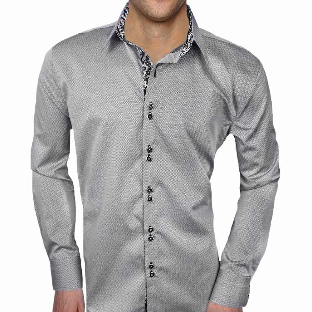 grey with black dress shirts