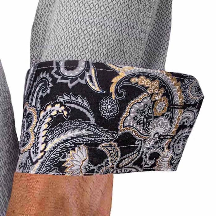grey-dress-shirts-with-black-paisley-cuff