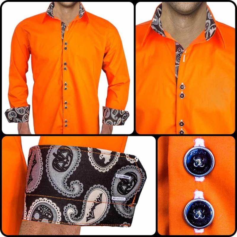 Orange-Halloween-Dress-Shirts