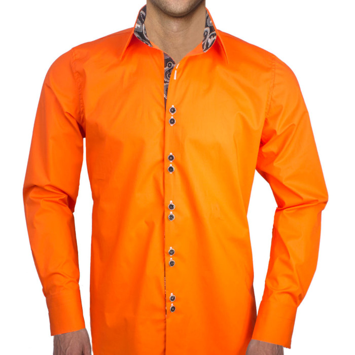 Orange-with-Black-Dress-Shirts