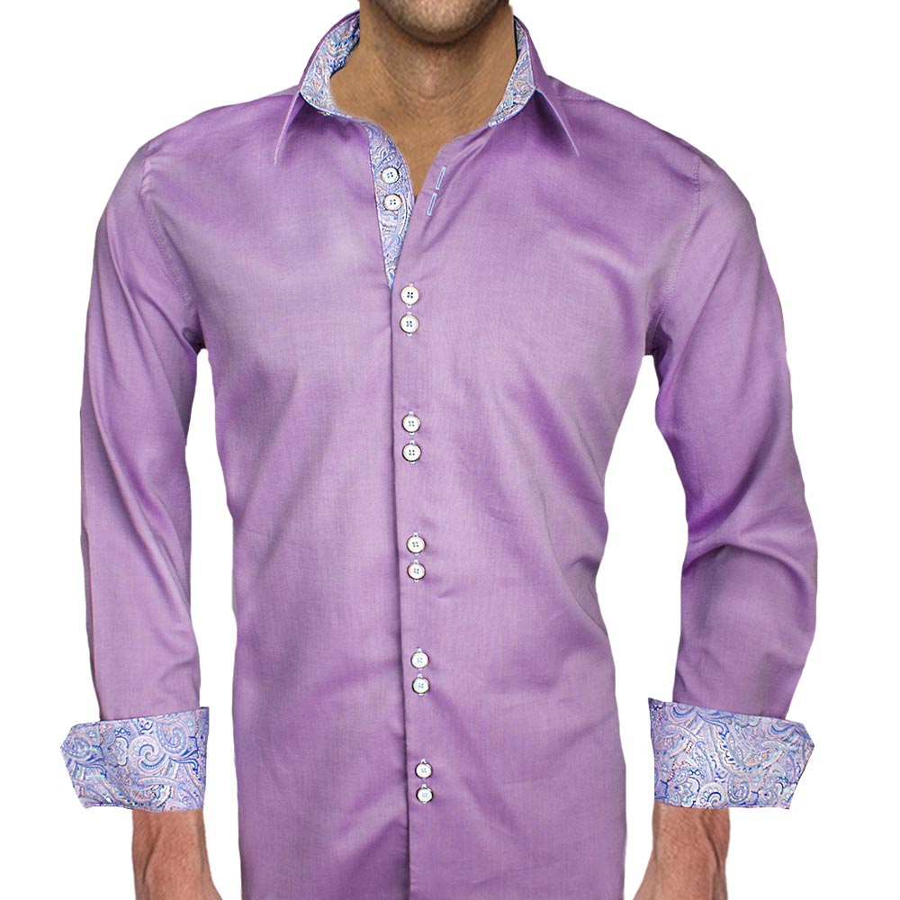 Mens purple shirt custom shirt Light purple dress shirt men