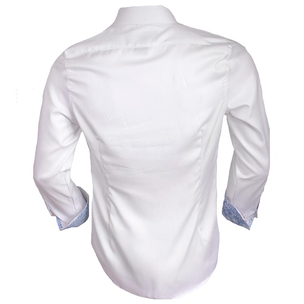 Mens holiday dress shirt blizzard