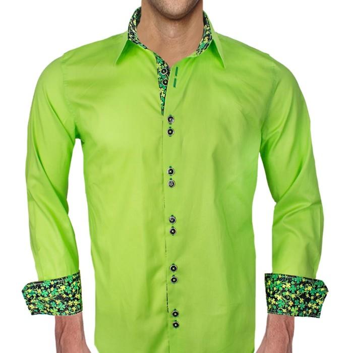Lime-Green-St-Patricks-Dress-Shirts