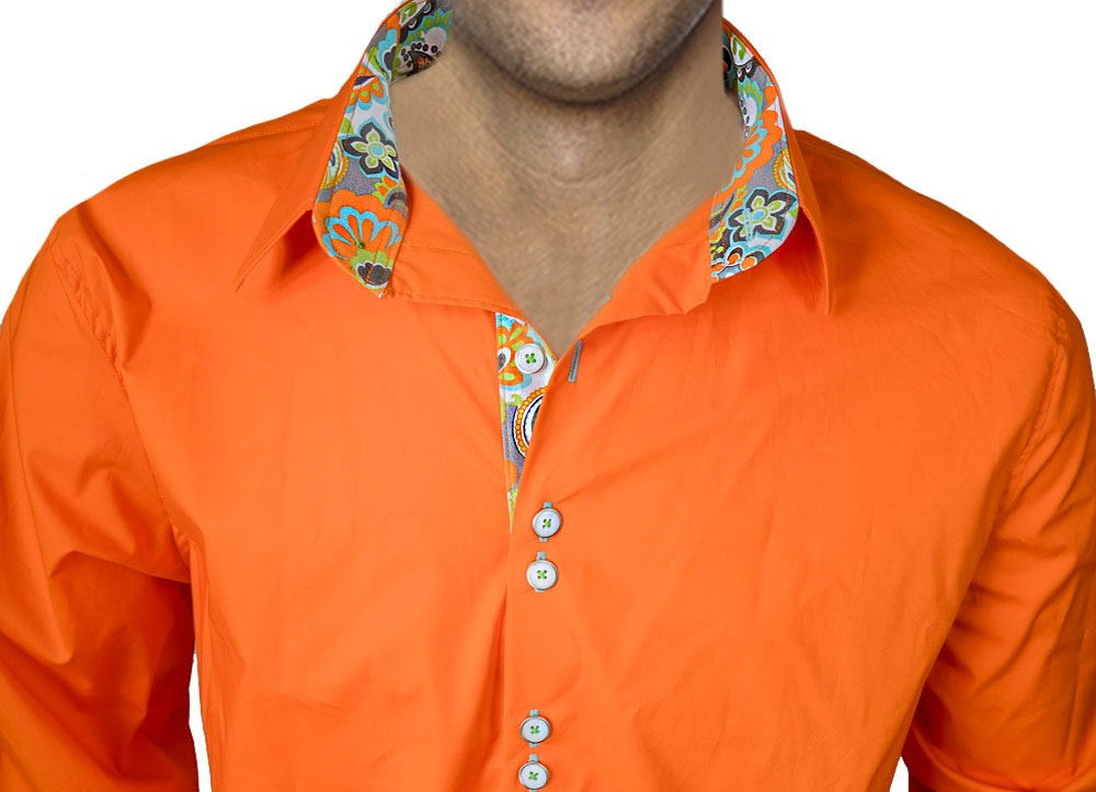 Bright-Orange-Dress-Shirts