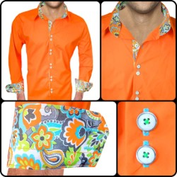 Bright-Orange-with-Accent-Dress-Shirts