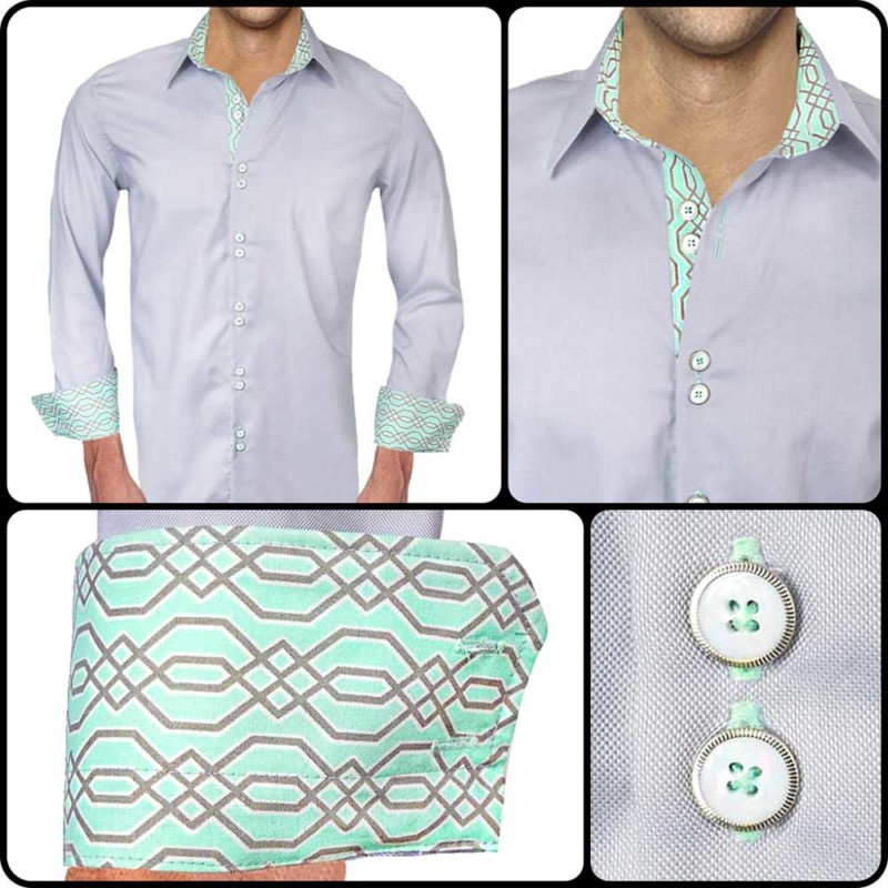 Gray-and-Teal-Accent-Dress-Shirts
