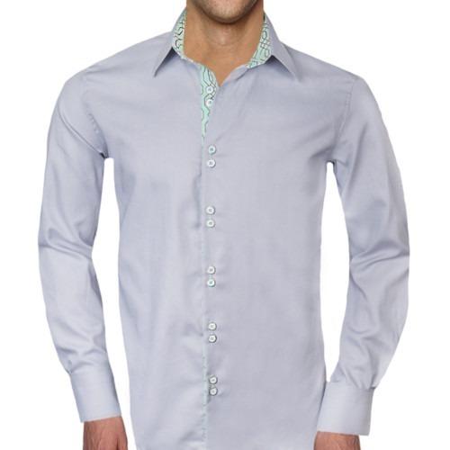 Gray-white-Green-Dress-Shirts
