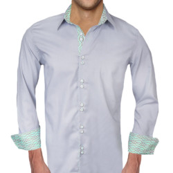 Gray-with-Teal-Dress-Shirts