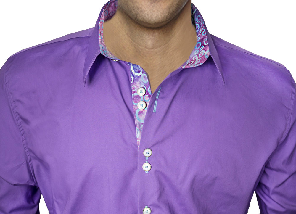 Bright purple dress shirts Light purple dress shirt men