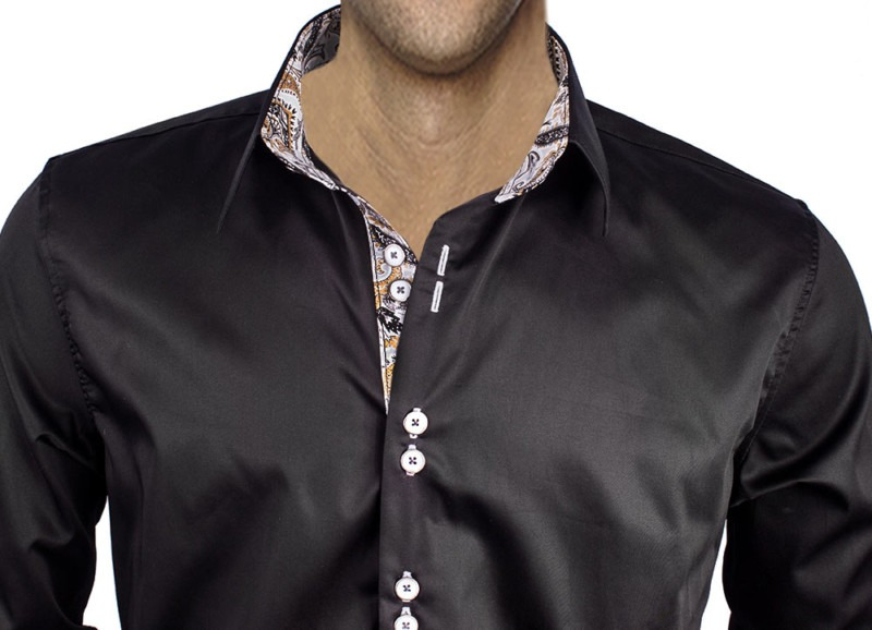 Black-Dress-Shirts-with-Gray-Accent