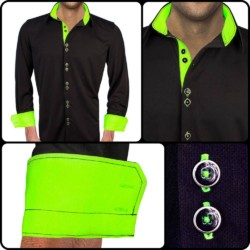 Black-Dress-Shirts-with-Neon-Green-Accent