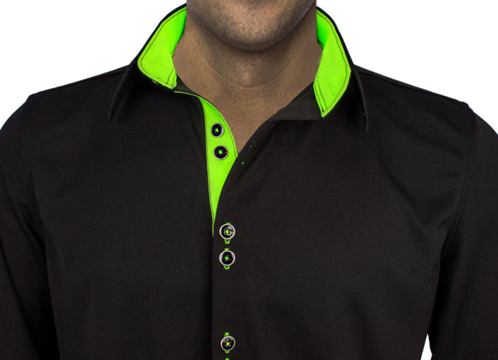 Black-Neon-Green-Dress-Shirts